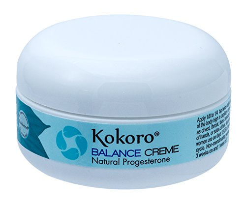 Pump Creme Progesterone - Kokoro Balance Creme for Women, Bioidentical Natural Progesterone Cream for Menopause Support, 2oz Jar, Paraben-Free, No Phytoestrogens, Recommended by Dr. Lee Since 1996, Vegan and PETA Formulation