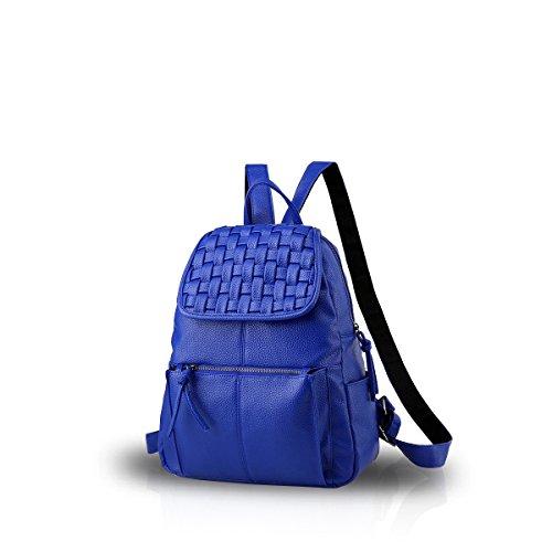 Nicole&Doris Nueva muchacha del hombro del patrón del bolso de escuela mochila bolsa de viaje Armadura Mochila Negro Zafiro