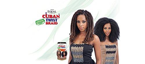 "Freetress Equal Synthetic Hair Braids Havana Twist Style Cuban Twist 12"" (4)"