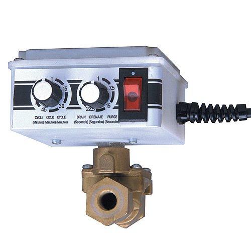 Arrow Pneumatics 5704S 1/2' Electronic Tank Drain W/Y Strainer, 16 Scfm Max Flow, 200 Psig Max Pressure, 165 Degrees F Max Fluid Temperature