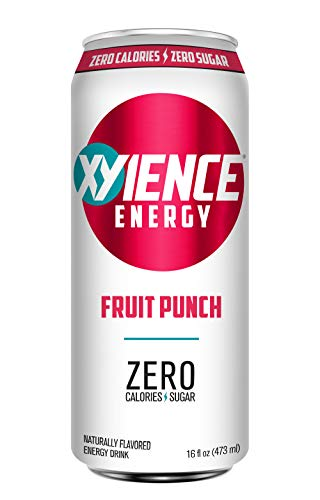 Punch Energy (XYIENCE Energy Drink | Fruit Punch | Sugar Free | Zero Calories | Natural Flavors | Vitamin Fortified | 16 Ounce (Pack of 12))