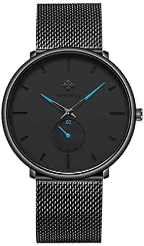 25e761e4a WWOOR Men Watches Top Brand Luxury Ultra Thin Clock Men Quartz Watch  Business Black Mesh Band