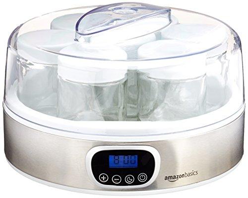 AmazonBasics Yoghurt Maker with Timer and 7 Jars