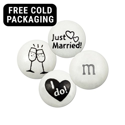 M&Ms Candies Just Married Blend 4lb bag (Free Cold Pack) - Milk Chocolate]()