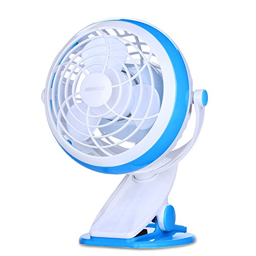 Clip On Desk Fan USB Table Fans (USB OR Battery Powered, Quietness)(Blue) (Clip On Fan Battery Powered compare prices)