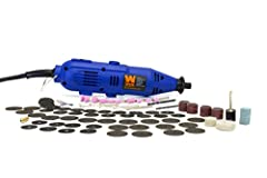 The Rotary Tool is a versatile tool that allows you to grind, cut, sand and drill. Remove rust on metal and get into fine detail on wood and metal with precision control. It has a powerful 1 Amp motor and variable speed from 8,000 - 30,000 RP...