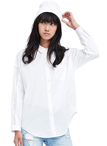 meters-bonwe-womens-solid-lace-splice-hollow-out-button-down-shirt-white-xl