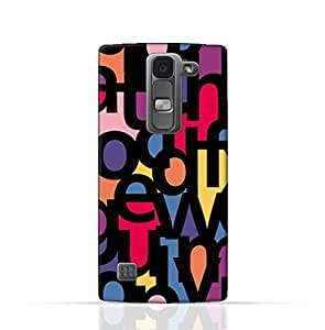 LG Spirit TPU Silicone Case with Abstract Font Seamless Pattern