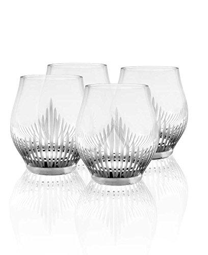Set Of 4 Lalique 100 Points Shot Glasses