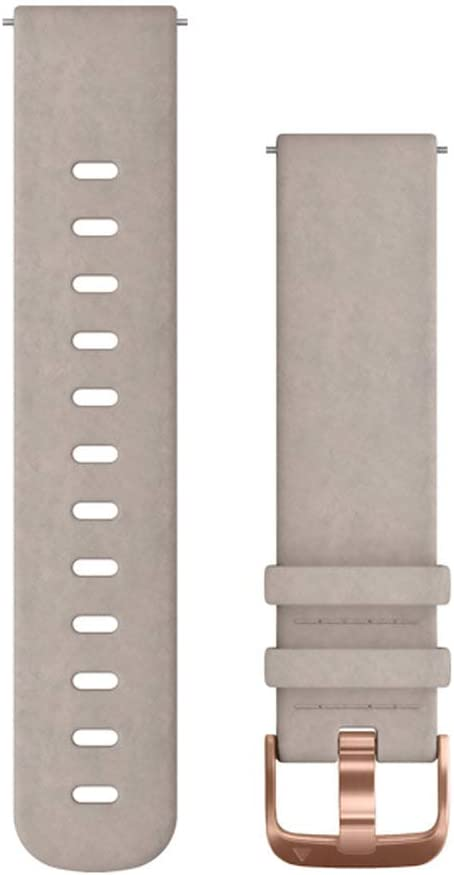 Garmin Quick Release Band, 20mm, Gray Suede with Rose Gold Hardware