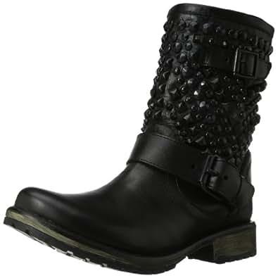 Steve Madden Women's Marcoo Engineer Boot,Black/Black,6 M US