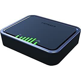 NETGEAR 4G LTE Broadband Modem - Use LTE as Primary Internet Connection (LB1120) 16 Get automatic 4G LTE connection | Built in Gigabit WAN for simple connection to your router, switch or computer Fast 4G LTE speeds up to 150 Mbps for downloads and 50 Mbps for uploads with 4G to 3G fallback support Works with any GSM Carier, including ATT and T Mobile. Device will not work with Verizon or Sprint
