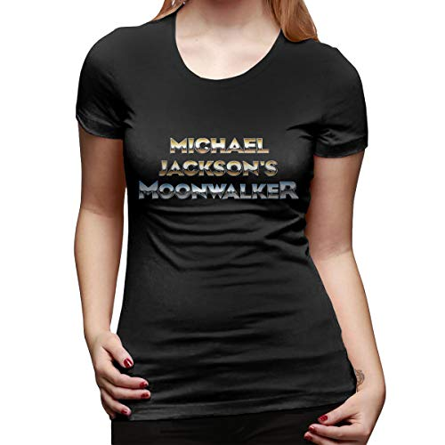 Women's Classic M-J Mic-hael- Jack-Son Printing Soft Sweatshirt Casual Loose Blouse Tops & Short Sleeve T Shirts Black ()