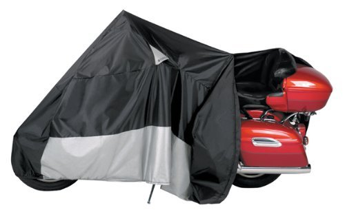 Dowco Guardian Weatherall Plus EZ Zip Cover - 3X-Large/Black/Grey (Weatherall Plus Motorcycle Cover)