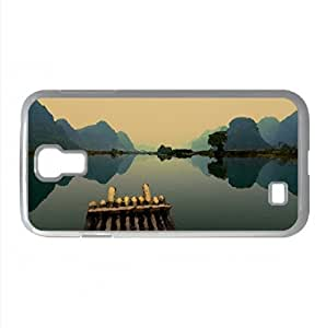 Bamboo Boat Watercolor style Cover Samsung Galaxy S4 I9500 Case (Lakes Watercolor style Cover Samsung Galaxy S4 I9500 Case)