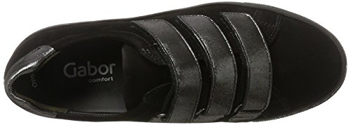 Gabor Ladies Comfort Basic Derbys Nero (87 Nero / Argento)
