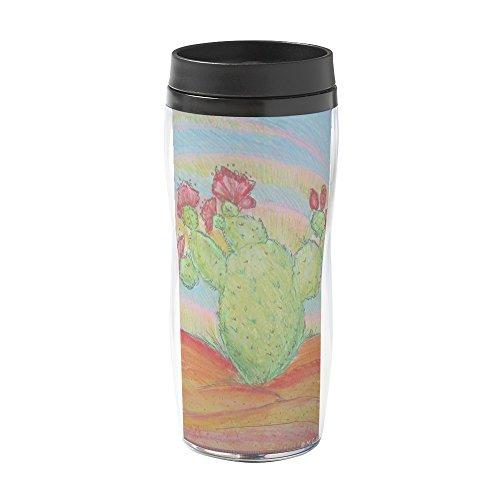 CafePress - Colorful Southwest Cactus Art - 16 oz Travel Mug by CafePress