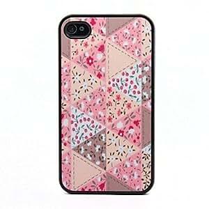 Patr¨®n de flores con Encanto Negro Frame PC caso duro para el iPhone 4/4S