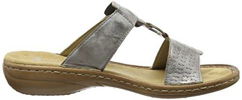Rieker 60805 Women Mules - Mules Mujer Gris - Grau (grey / 40)