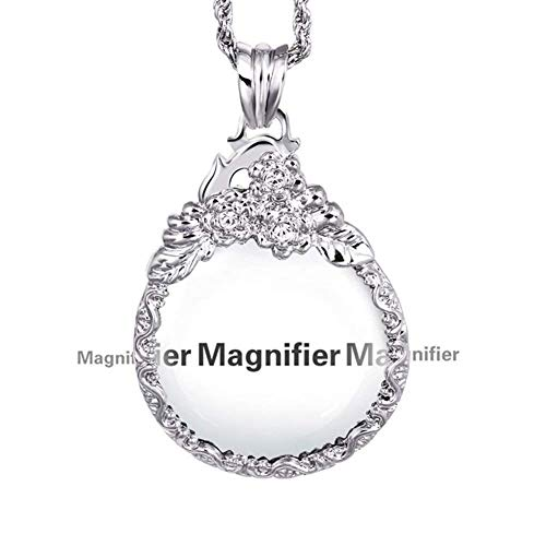 Reading Definition High Magnifier - Magnifying Glass, Vintage Necklace Reading Amplifier High Definition Gift Magnifier 10X