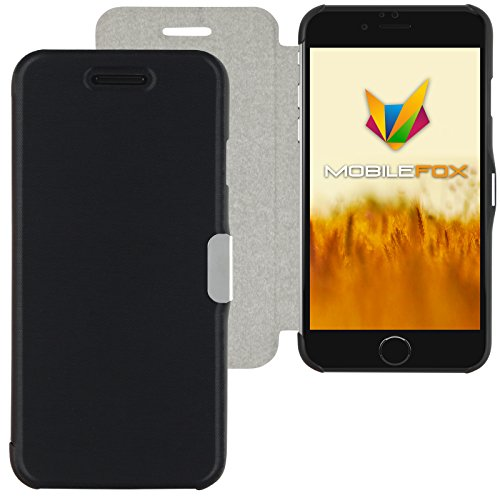 Mobilefox Magneto Schutzhülle Flip Case Apple iPhone 6/6S Graublau