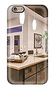 Hot Tpye Kitchen With Brown Cabinets Amp Wall Mounted Oven Case Cover For Iphone 6