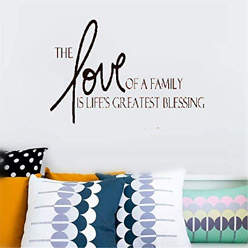- Dozili Vinyl Wall Decal Sticker Wall Art Inspiring Quotes Home Art Decor Decal Mural The Love of A Family is Life's Greatest Blessing for Living Room Hose Home Decoration Gift Idea 18