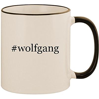 #wolfgang - 11oz Ceramic Colored Handle & Rim Coffee Mug Cup