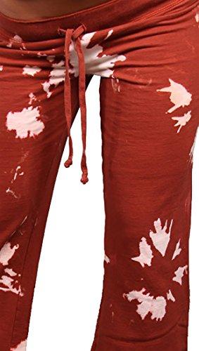 Twisted Heart Tie Dye Shakira Drawstring Sweat Pants (Medium, Redhead) (Sweatpants Twisted Heart)