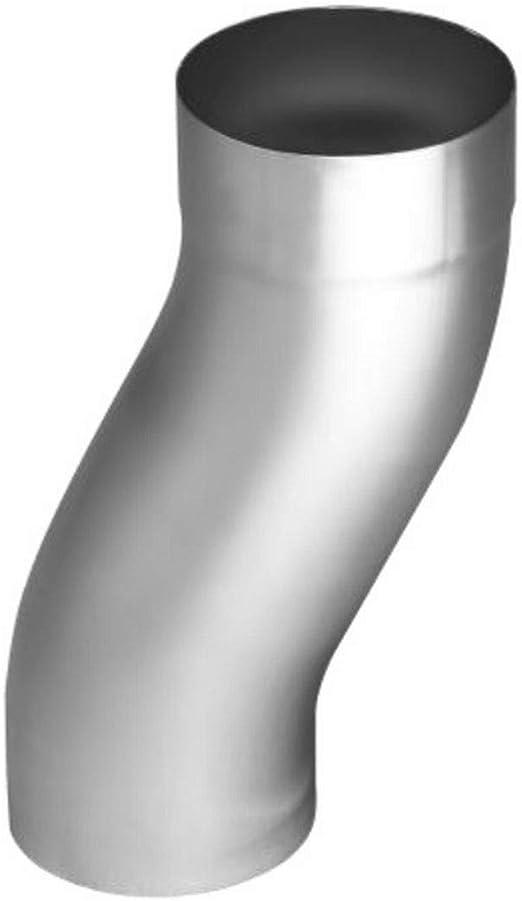76 87 und 100 mm 80 Regenrohrbogen 60/° Titanzink in den Gr/ö/ßen 60 87 mm