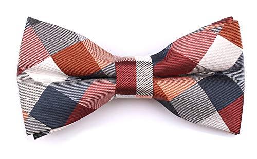 Men Big Boys Slim Modern Bow Ties Menswear Elegant Luxury Unique Formal Bowties in Red Grey -