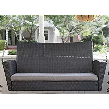 Amazon Com Brown Resin Wicker Outdoor Porch Swing With