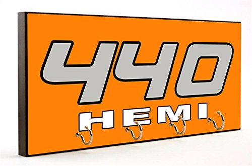 Brotherhood Dodge & Plymouth Hemi Engine Size Assortment Dog Leash or Key Hanger (Hemi 440) ()