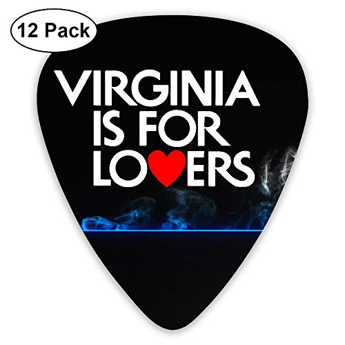 Virginia Sampler Guitar Picks - 12 Pack Unique Accessory For Guitar Player Best Gift For Guitarist