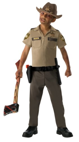 [The Walking Dead Child Rick Grimes Costume, Large] (Tv Show Based Halloween Costumes)