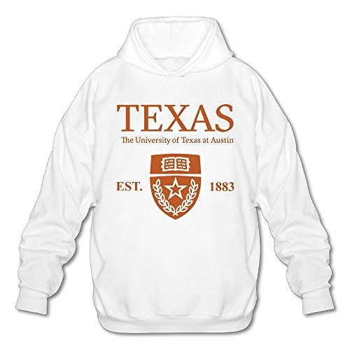 QTHOO Men's Long Sleeve University of Texas at Austin Established 1883 Lightweight Hoodie