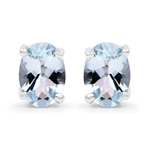 150-Carat-Genuine-Aquamarine-925-Sterling-Silver-Earrings