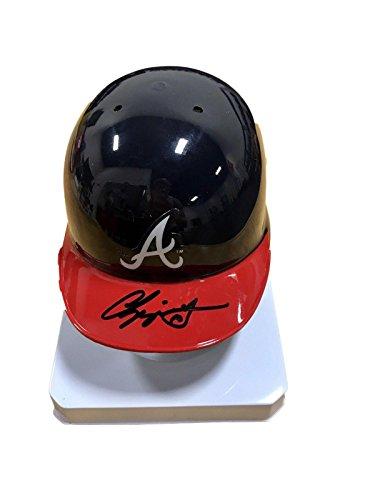 Chipper Jones Atlanta Braves Signed Mini Batting Helmet - JSA Certified - Autographed MLB Mini Helmets