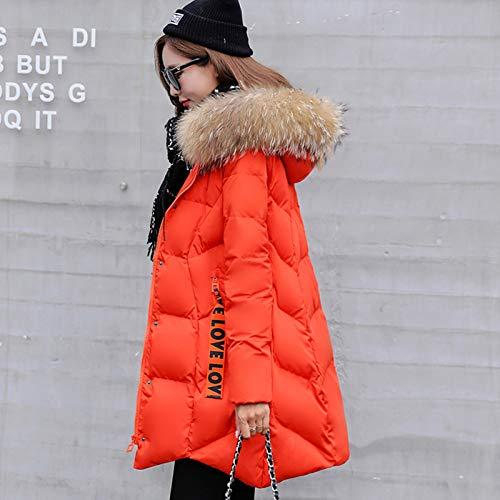 Minces D'hiver Veste Longue Pour Orange Coton Clothing Femmes Vêtements En Coton Épais Pain vOqSS5Pw