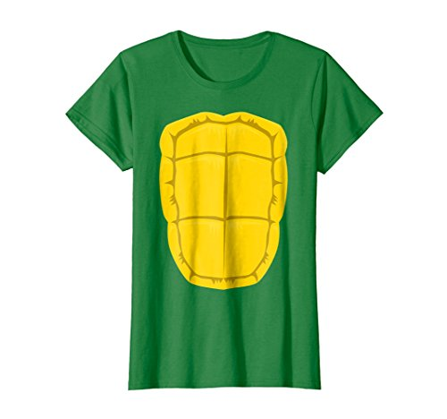 Womens Funny Turtle Shell Halloween Costume Shirt Gift Clever DIY Medium Kelly Green ()