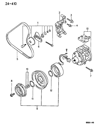 Mopar MR398887, Belt Tensioner Pulley