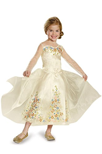 Mememall Fashion Princess Movie Wedding Dress Deluxe Child Costume (Deluxe Child Princess Leia Costume)