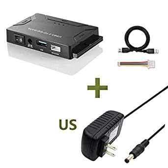 """USB 3.0 to  2.5/""""//3.5/"""" IDE SATA Hard Drive Adapter HDD Transfer Converter Cable"""