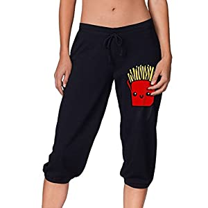 French Fries Women's 3/4 Length Stretchy Crop Yoga Soft,Silky,lightweight,super Stretchy,dry Fast Leggings French Terry PantsMedium