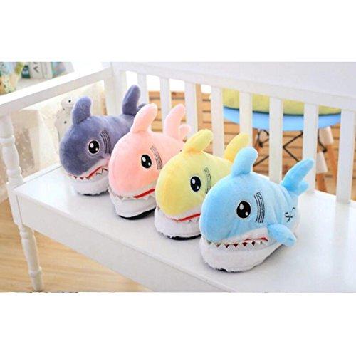 la Maison de Requin animé à de Mignon de Rose Coton de Dessin Pantoufles Coton Pantoufles OqR7nwRU