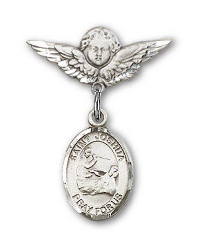 Icecarats Créatrice De Bijoux En Argent Sterling St. Joshua Charme Ange Pin Badge 7/8 X 3/4