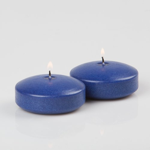 24 Navy Blue Richland Floating Candles 3'' by Richland (Image #1)
