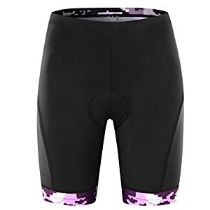 NUMMY Women's Cycling Shorts With 3D Padded Trend Flower Design (M)