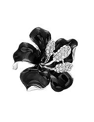 SENFAI Hot Sale Brooches for Women Fashion Dress Flowers Enamel Brooch Rhinestone Crystal Lily Flower Brooches