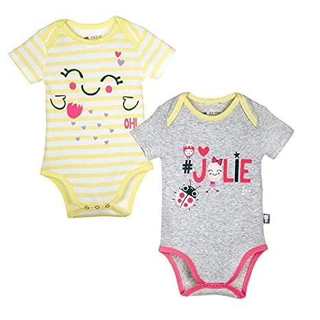 23c65bcdeeee5 Lot de 2 bodies bébé fille gris   rayé Jolie - Taille - 3 mois (62 ...